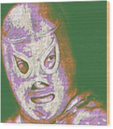 El Santo The Masked Wrestler 20130218v2m128 Wood Print by Wingsdomain Art and Photography