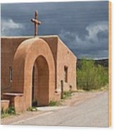 El Santuario De Chimayo Cross Wood Print