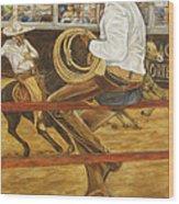 El Vaquero Que Ata Wood Print