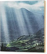 El Yunque And Sun Rays Wood Print