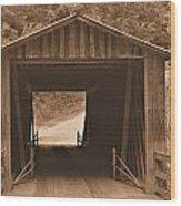 Elder Mill Covered Bridge Wood Print