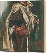 Elderly Moroccan Jew, 1867 Oil On Canvas Wood Print
