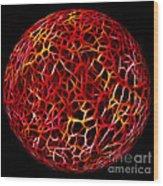 Electric Ball Wood Print