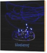 Electric Blueberry Wood Print