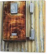 Electric Box Wood Print