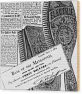 Electric Brushes, 1882 Wood Print