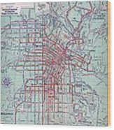 Electric Car And Bus Routes In La  Wood Print