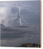 Electric Cloud Wood Print