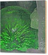 Electric Green Wood Print