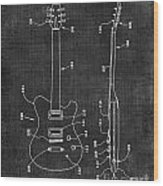 Electric Guitar Patent 039 Wood Print