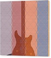 Electric Guitar Solo Wood Print