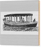 Electric Harbor Launch Wood Print