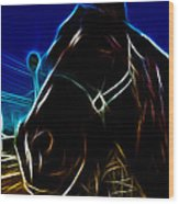 Electric Horse Wood Print