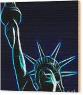 Electric Liberty Wood Print