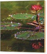 Electric Lily Pad Wood Print