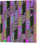Electric Magenta Wood Print