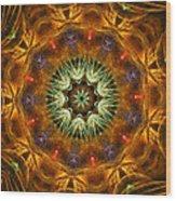 Electric Mandala 1 Wood Print