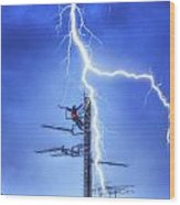 Electric Shock Wood Print