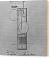 Electric Signal Patent Drawing Wood Print