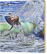 Electric Splash Wood Print