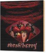 Electric Strawberry II Wood Print