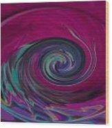 Electric Tidal Wave Wood Print