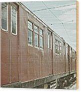 Electric Train Wood Print