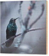Electrical Blue Wood Print