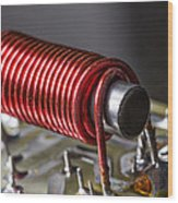 Electrical Coil With Iron Core Wood Print