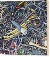 Electrical Cord Picking Wood Print