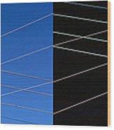 Electrical Grid Wood Print