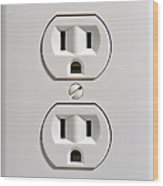 Electrical Outlet Wood Print by Olivier Le Queinec