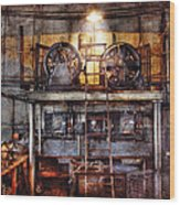 Electrician - Turbine Station Wood Print by Mike Savad