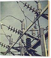 Electricity Wood Print