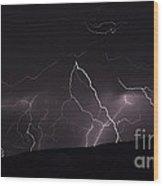 Electrified Hillside Wood Print