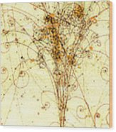 Electron Positron Particle Shower Wood Print by Spl