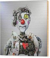 Electronic Clown Wood Print