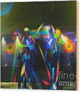 Electronic Dance Trance Wood Print