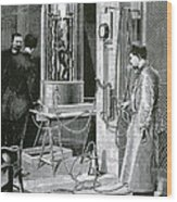 Electroplating The Dead, 1891 Wood Print