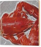 Electrostatic Lobster Wood Print