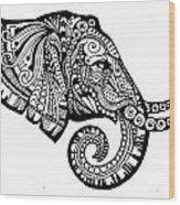Elegant Elephant Wood Print