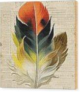 Elegant Feather-c Wood Print