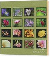 Elegant Flowers Collection Wood Print