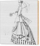 Elegant Lady Wood Print