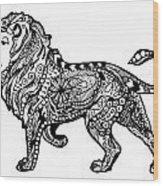 Elegant Lion Wood Print