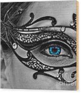 Elegant Mask Wood Print