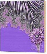 Elegant Tentacles Purple And Lilac Wood Print