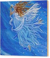Elemental Earth Angel Of Wind Wood Print