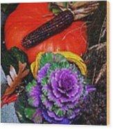 Elements Of Fall Wood Print