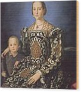 Eleonora Ad Toledo Grand Duchess Of Tuscany Wood Print by Agnolo Bronzino